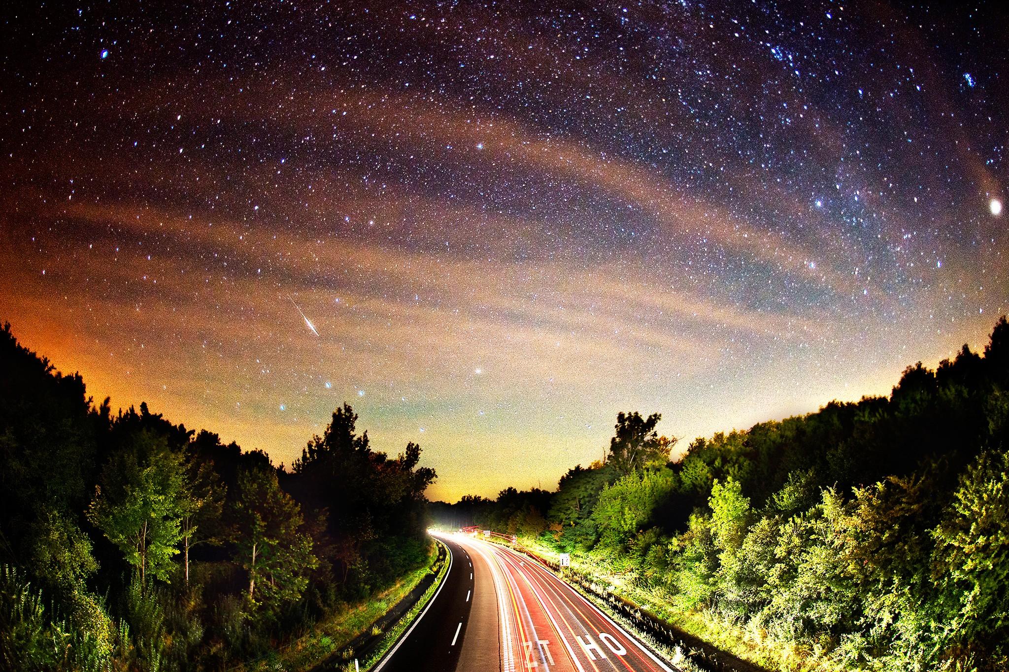 Perseid meteor // Gneixendorf, Austria // 2012